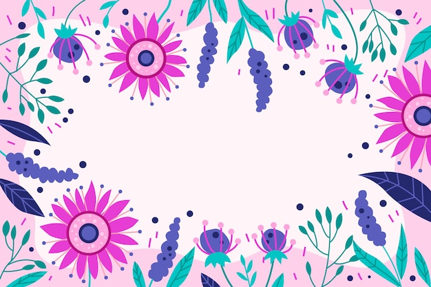 Hand drawn spring background Free Vector