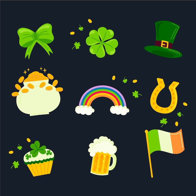 Free Vector Hand Drawn St Patrick S Day Element Collection