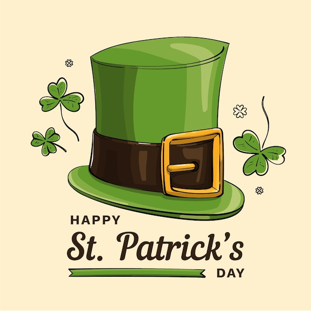 Hand drawn st. patrick's day hat Premium Vector