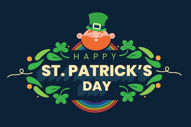 Hand drawn st. patrick's day illustration with man wearing hat Free Vector