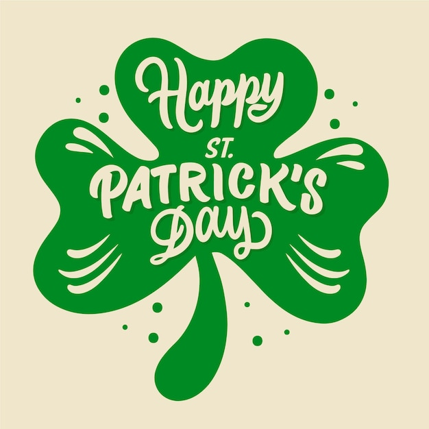 Hand-drawn st. patrick's day lettering Free Vector