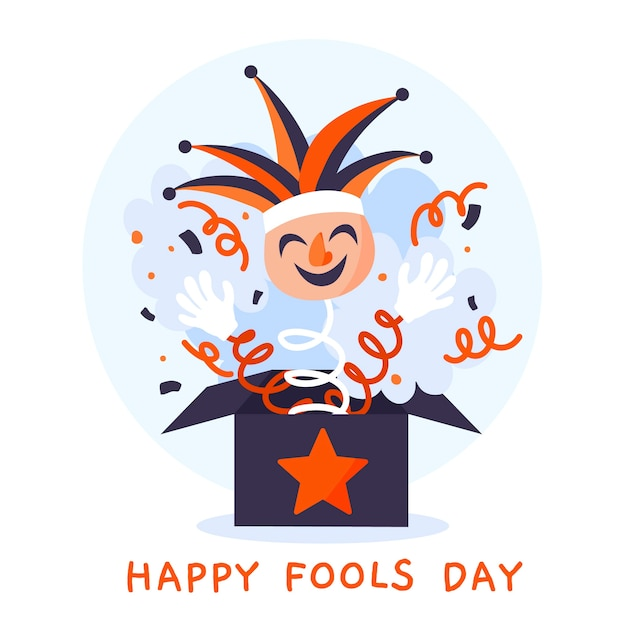 Hand drawn style april fools day Free Vector