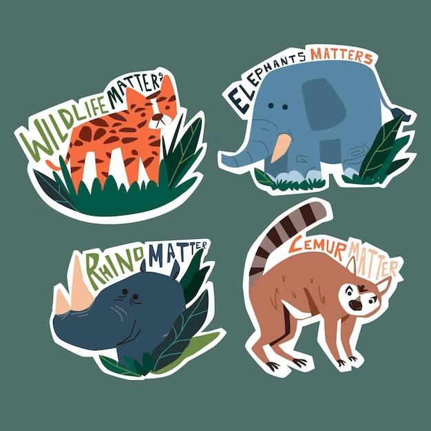 Hand drawn style ecology badges Free Vector