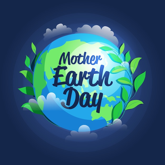 Hand drawn style mother earth day event Free Vector