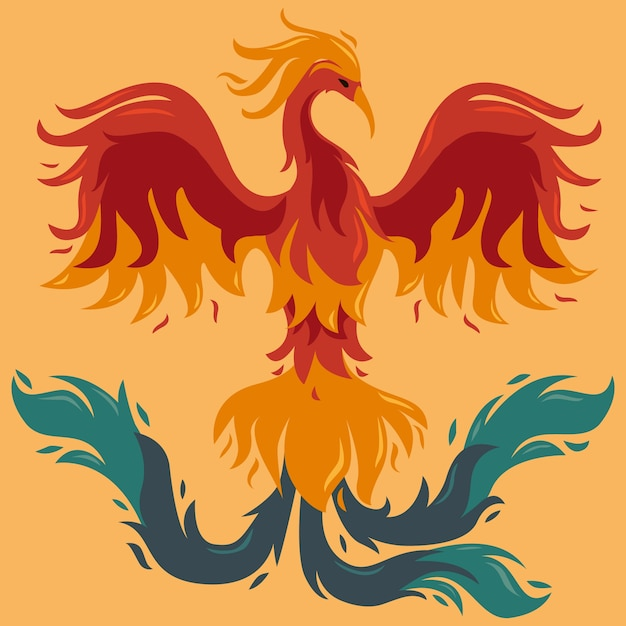 Free Vector Hand Drawn Style Phoenix Bird