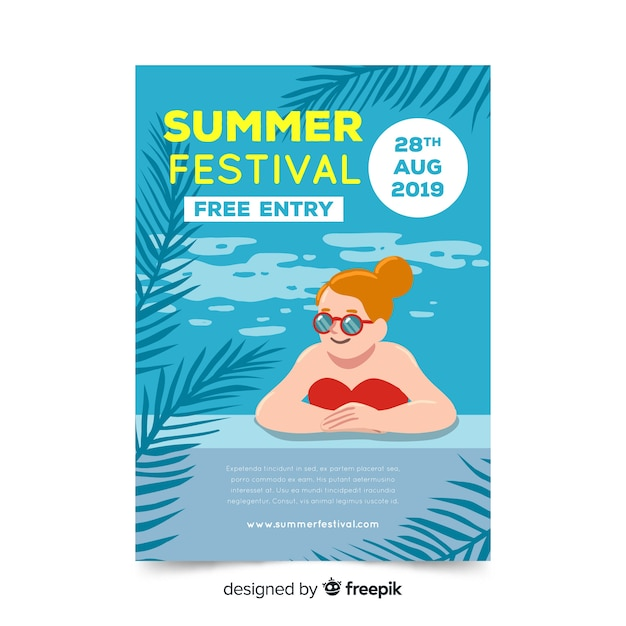 Hand drawn style seasonal poster collection Free Vector