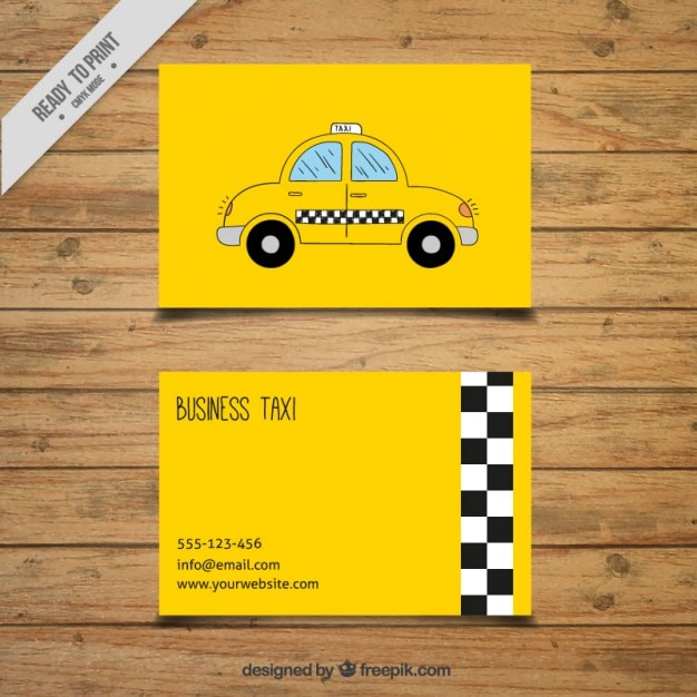 Download Vector - Business taxi card - Vectorpicker