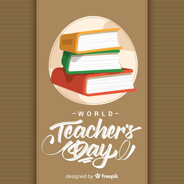 Hand drawn teachers day background Premium Vector