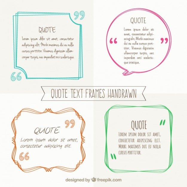 Vector Drawing Lines Quotes : Hand drawn text frames vector free download
