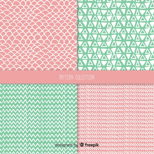 Hand drawn texture pattern collection Free Vector