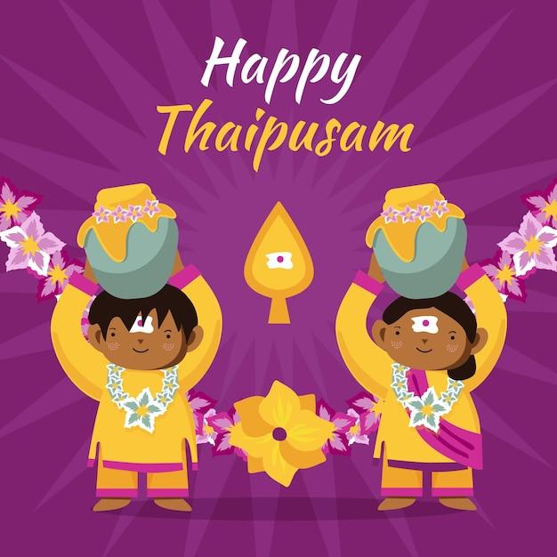 Celebrazione di thaipusam disegnata a mano Vettore gratuito