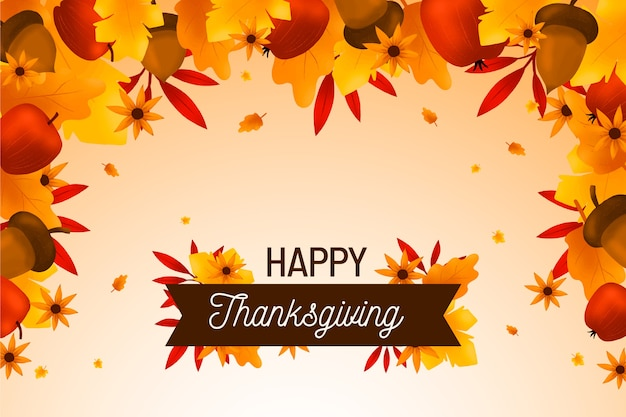 Hand drawn thanksgiving background Free Vector