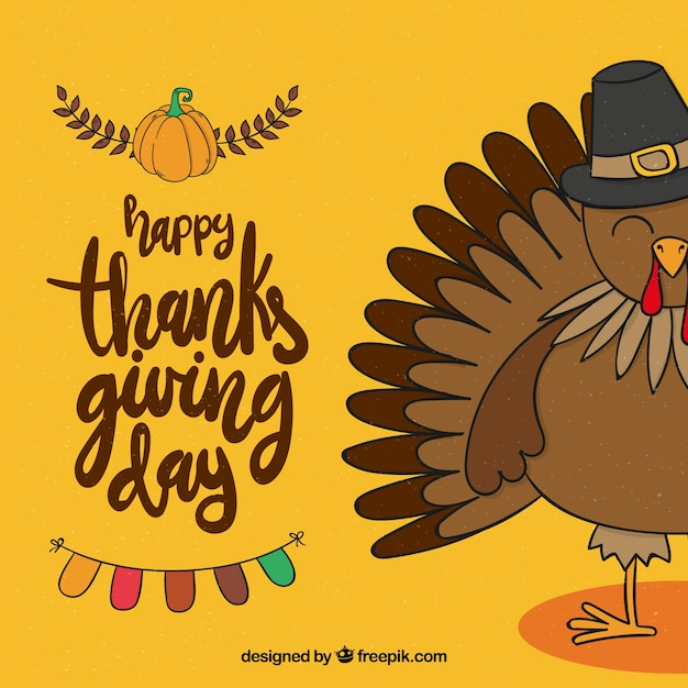Hand drawn thanksgiving celebration\ background