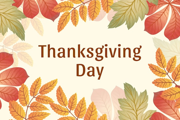Hand drawn thanksgiving day background Free Vector