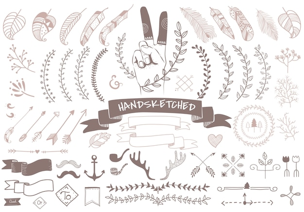 Hand drawn travel design Free Vector