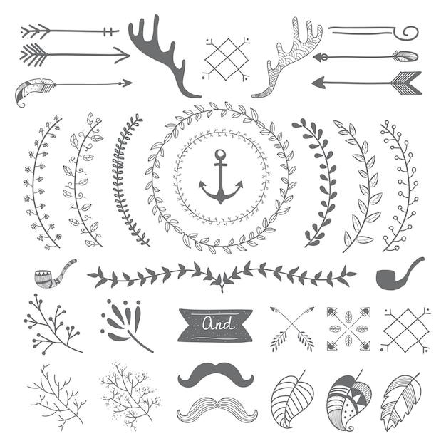 Hand drawn travel design Free Vector