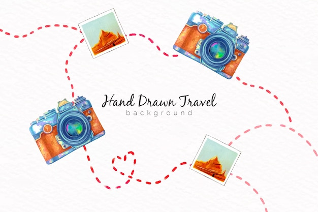 Hand drawn travel Free Vector