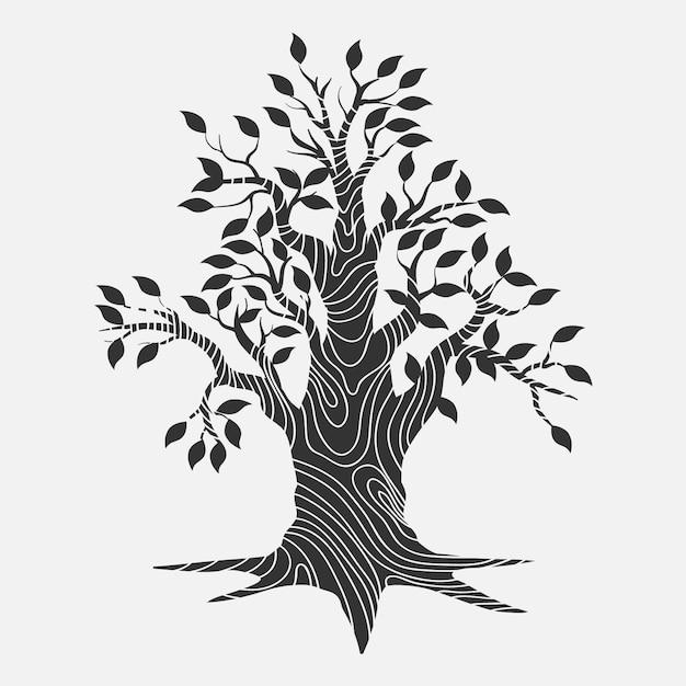 Hand-drawn tree life design Free Vector