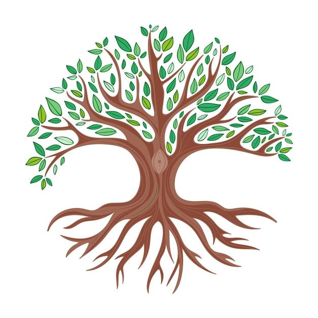 Hand-drawn tree life illustration Free Vector