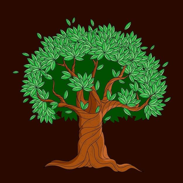 Hand drawn tree life illustration Free Vector