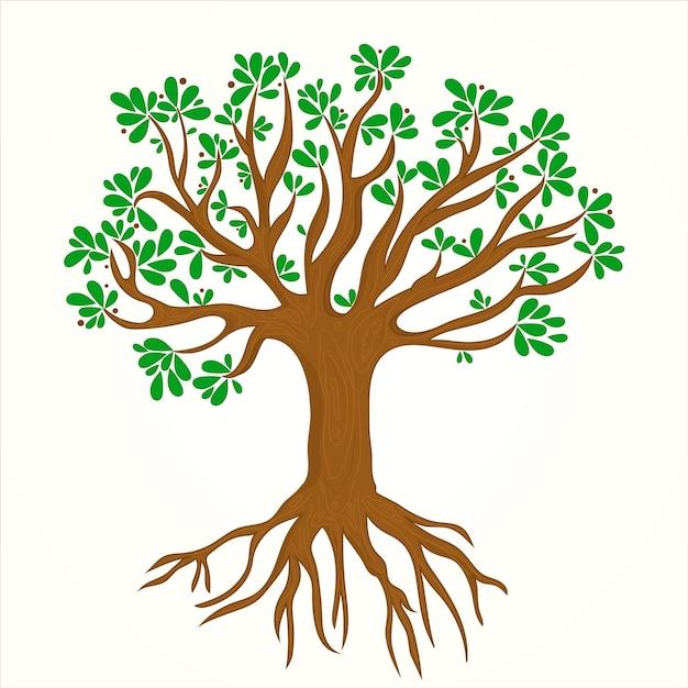 Нарисованная рукой иллюстрация жизни дерева Бесплатные векторы