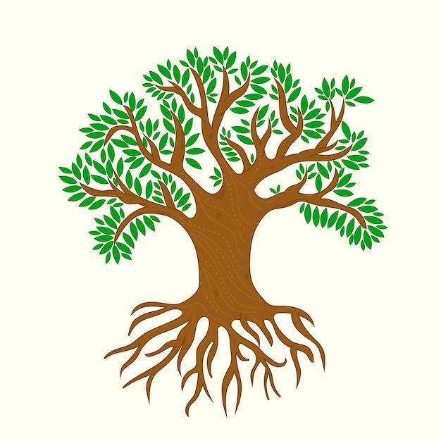 Illustrazione di vita dell'albero disegnato a mano Vettore gratuito