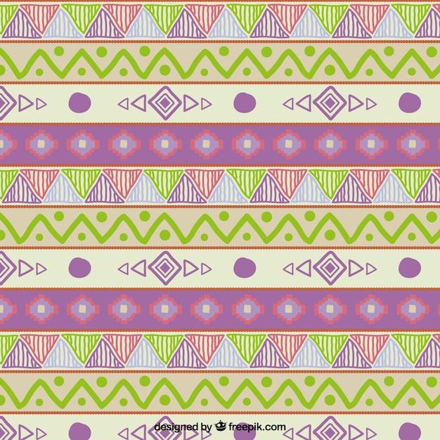 Hand drawn tribal pattern Free Vector