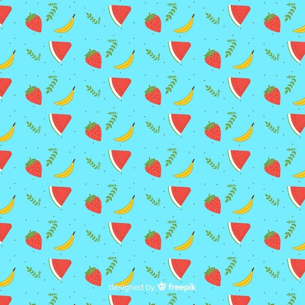 Modello di frutta tropicale disegnato a mano Vettore gratuito