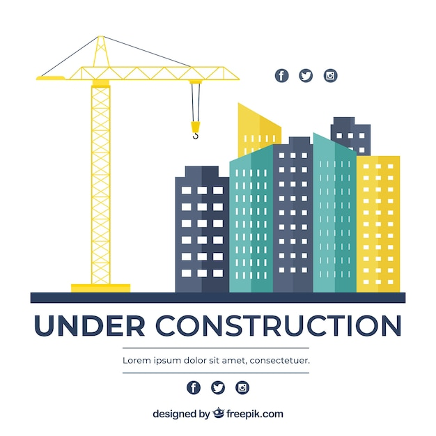 Hand drawn under construction background Free Vector