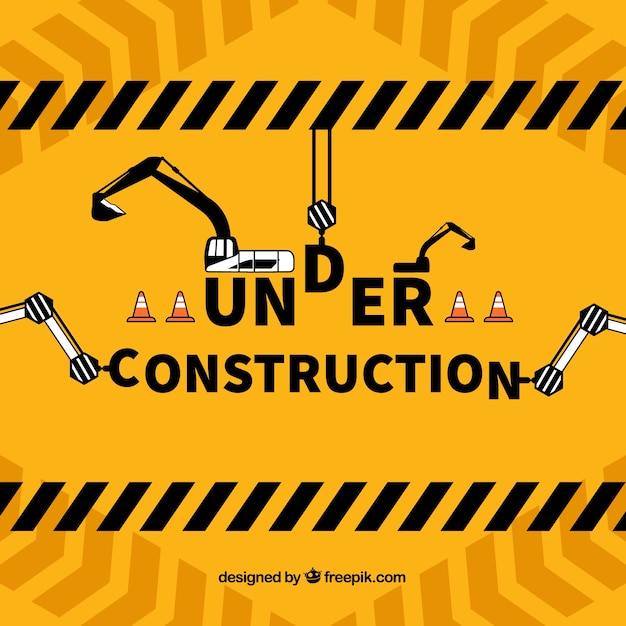 Hand drawn under construction template Free Vector