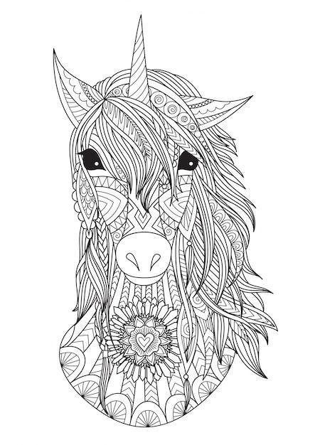 Hand drawn unicorn Vector | Premium Download