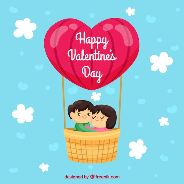Hand Drawn Valentine S Day Background With Couple Vector Free Download