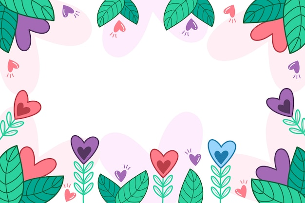 Hand drawn valentine's day background Free Vector
