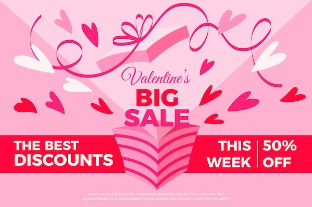 Hand drawn valentine's day big sale Free Vector