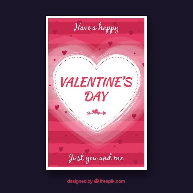 Valentine card template grunge valentines card template vector hand drawn valentines day card template free vector valentine card template pronofoot35fo Choice Image