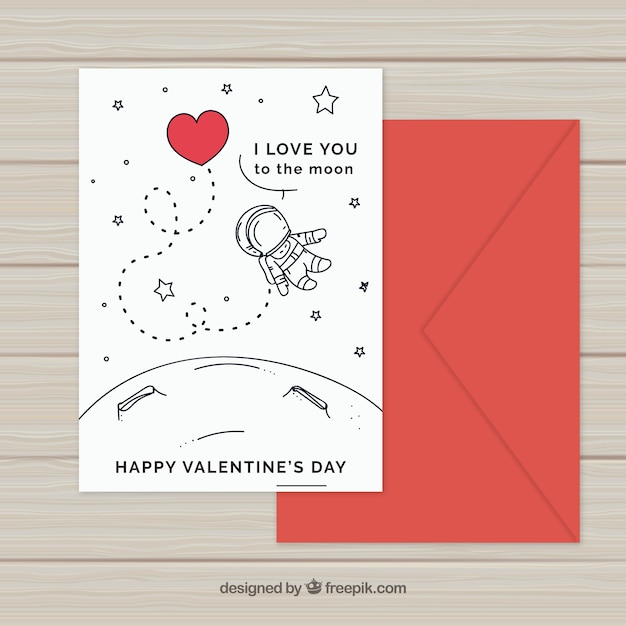 Hand drawn valentines day card template vector free download hand drawn valentines day card template free vector maxwellsz
