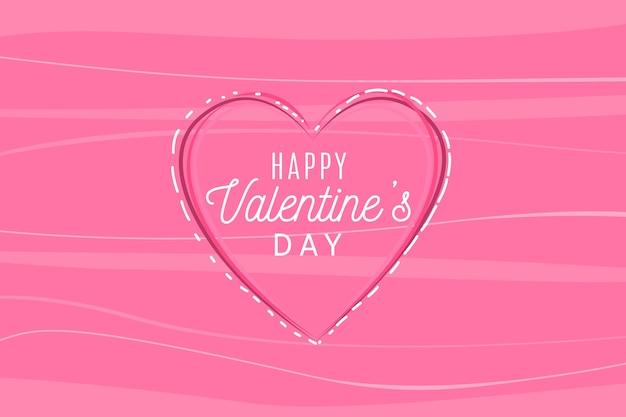 Hand drawn valentines day background Free Vector