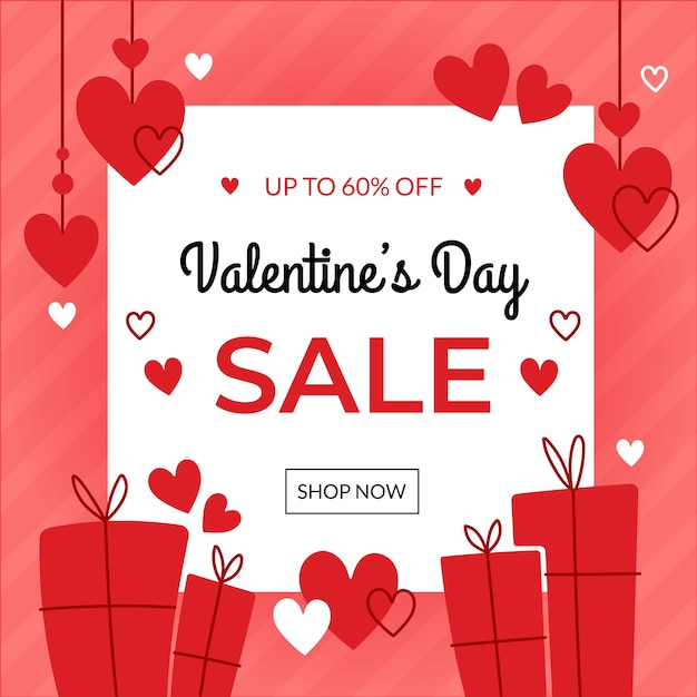 Hand drawn valentines day sale concept Free Vector