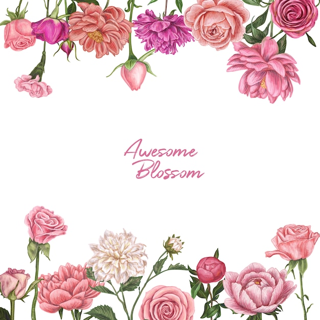 Hand drawn vector flower illustration Premium Vector