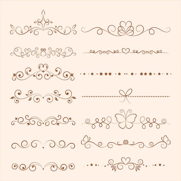 Hand drawn vector ornaments for invitation Premium Vector