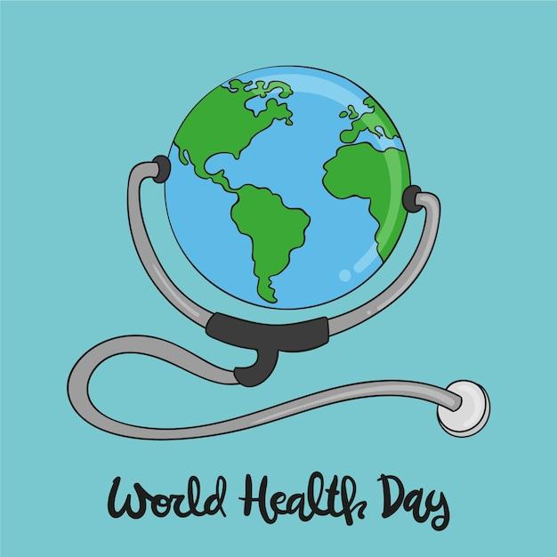 Hand drawn wallpaper world health day Free Vector