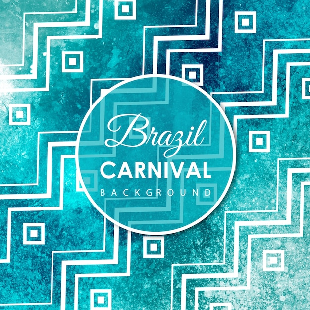 Hand Drawn Watercolor Carnival Background Free Vector