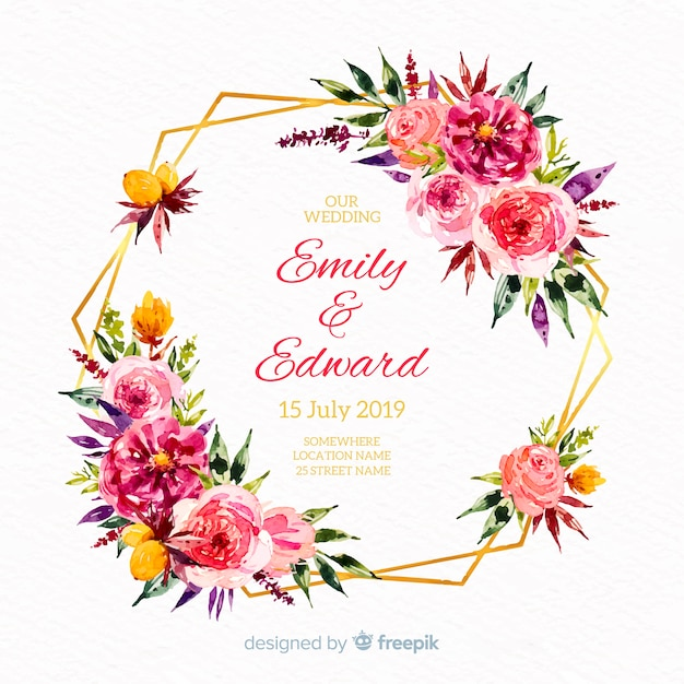 Hand Drawn Wedding Floral Background Vector Free Download