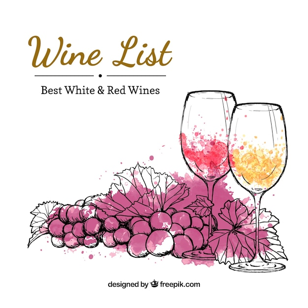 Wine List Vectors Photos and PSD files – Free Wine List Template