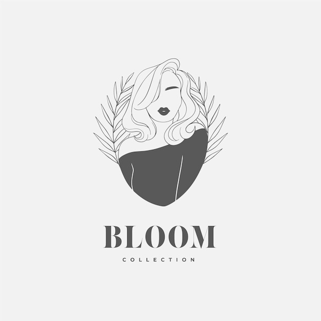 Avatar di logo donna disegnata a mano Vettore gratuito