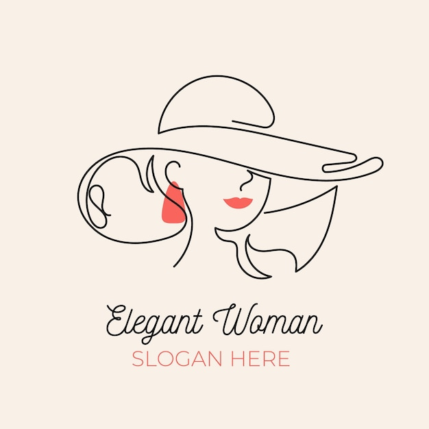 Hand-drawn woman logo template Free Vector