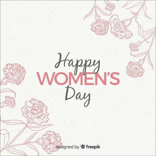 Hand drawn women's day background Premium Vector