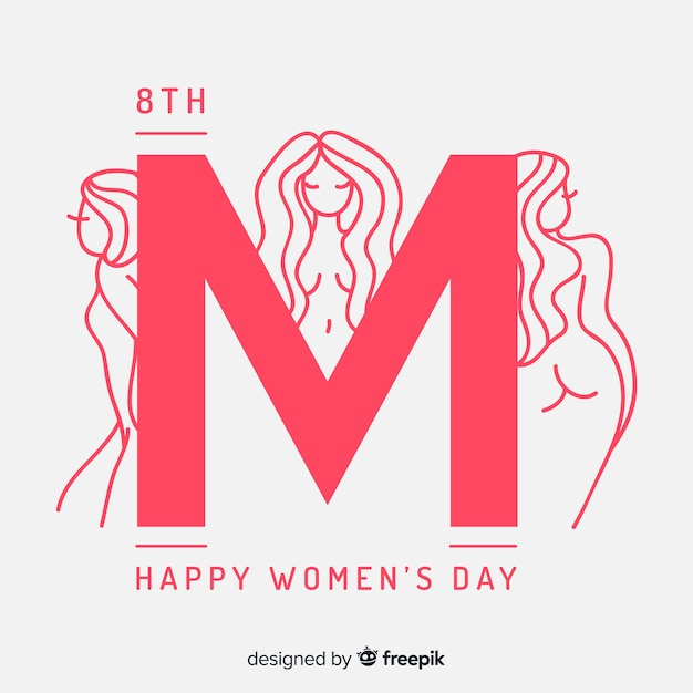 Hand drawn women's day background Free Vector