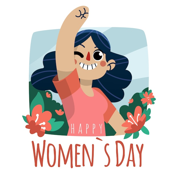 Hand drawn women's day illustration Free Vector