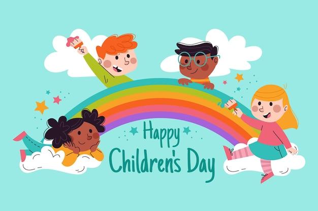 Всемирный день защиты детей Premium векторы